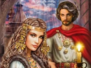 Собирать пазл Ведьма и Князь онлайн