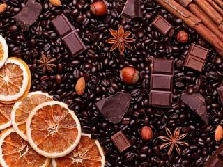 Собирать пазл Кофе и апельсины онлайн