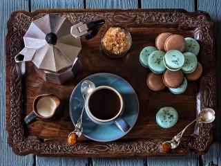Собирать пазл Кофе и десерт онлайн