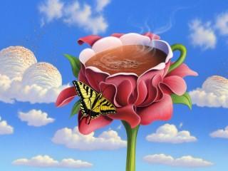 Собирать пазл Кофе и облака онлайн