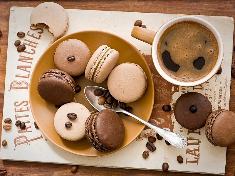 Пазл Собирать пазлы онлайн - Кофе и печенье