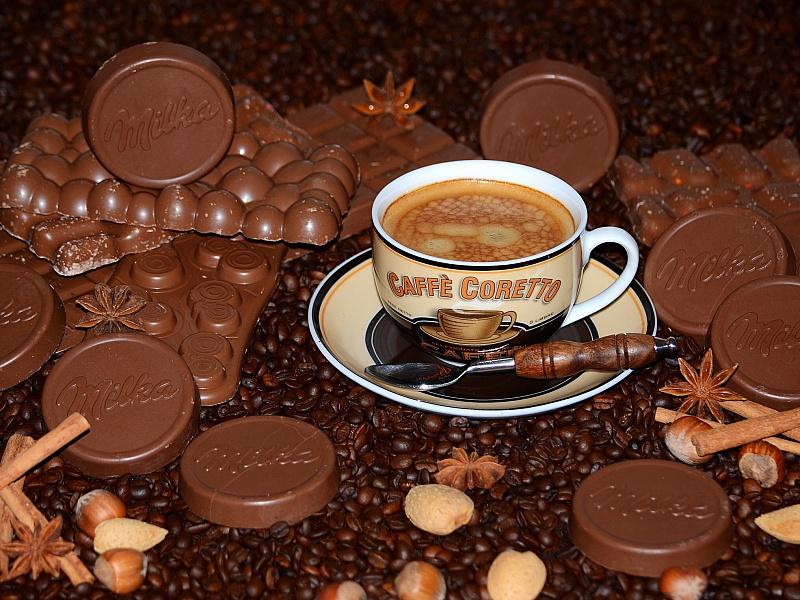 Пазл Собирать пазлы онлайн - Кофе и шоколад