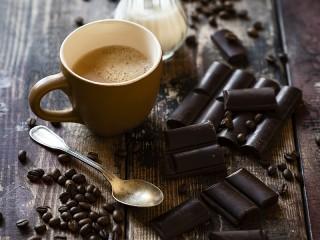 Собирать пазл Кофе и шоколад онлайн