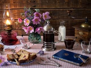 Собирать пазл Кофе на завтрак онлайн