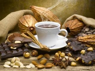 Собирать пазл Кофе с орехами онлайн