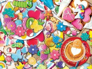 Собирать пазл Кофе с печеньем онлайн