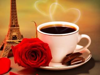 Собирать пазл Кофе с шоколадом онлайн