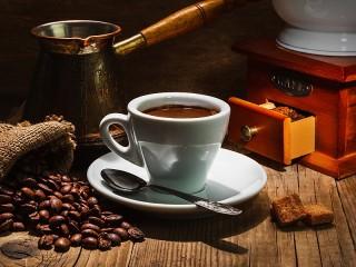 Собирать пазл Кофейный набор онлайн