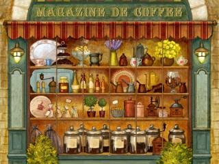 Собирать пазл Кофейный магазин онлайн