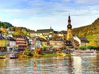 Собирать пазл Кохем Германия онлайн