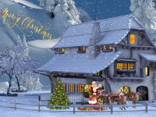 Собирать пазл Коллаж на Рождество онлайн