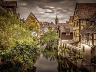 Собирать пазл Кольмар Франция онлайн