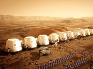 Собирать пазл Колония на Марсе онлайн
