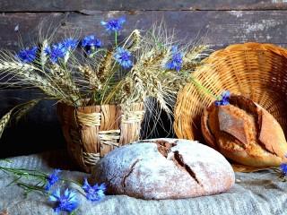 Собирать пазл Колосья и васильки онлайн
