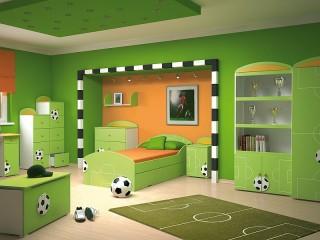 Собирать пазл Комната футболиста онлайн