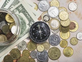 Собирать пазл Компас и деньги онлайн