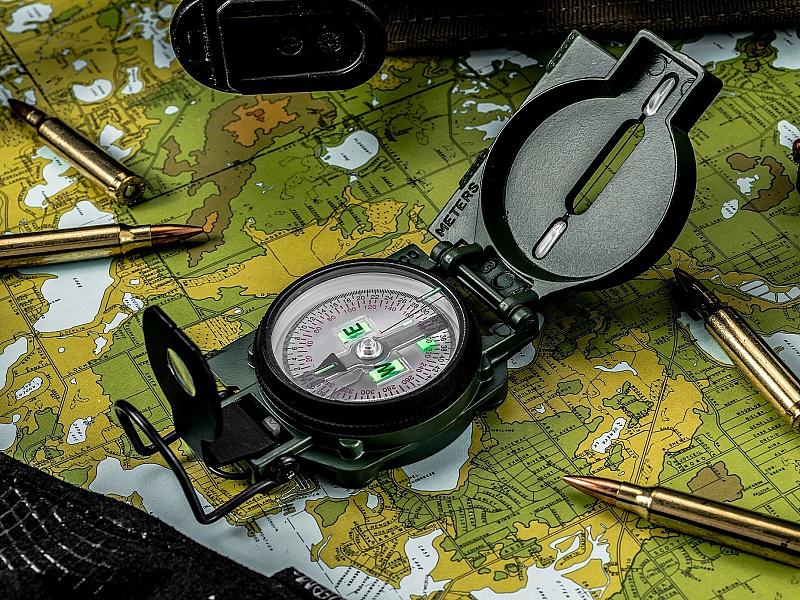 Пазл Собирать пазлы онлайн - Компас и карта