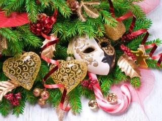 Собирать пазл Композиция Рождество онлайн