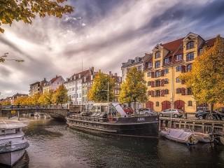 Собирать пазл Копенгаген. Дания онлайн