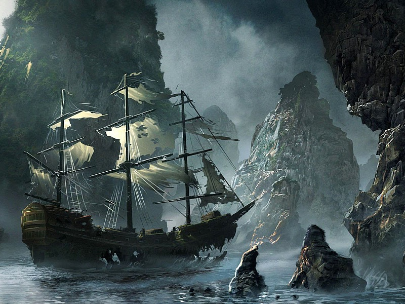 Пазл Собирать пазлы онлайн - Корабль призрак