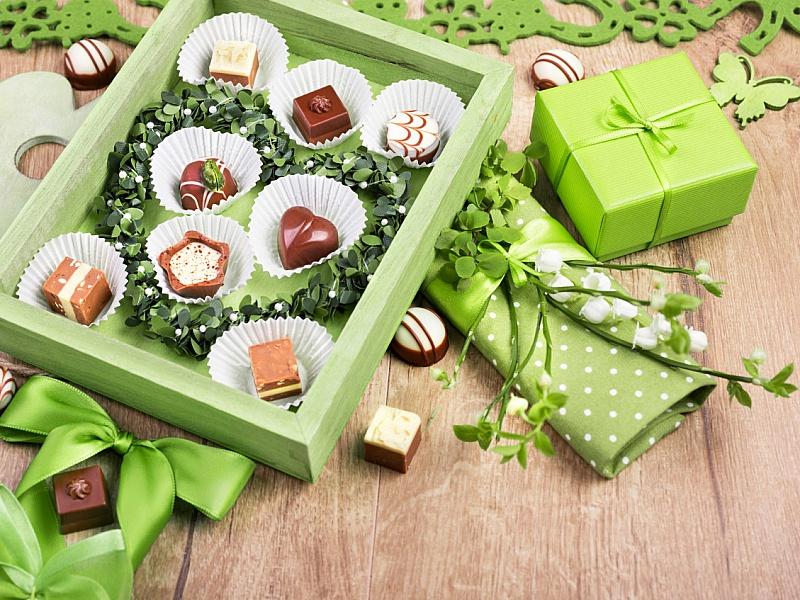 Пазл Собирать пазлы онлайн - Коробка конфет