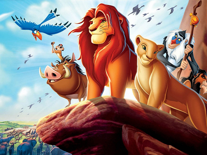 Пазл Собирать пазлы онлайн - Король-лев