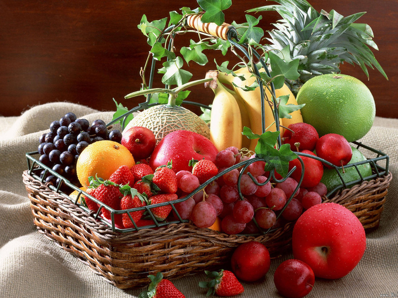 Пазл Собирать пазлы онлайн - Корзина фруктов