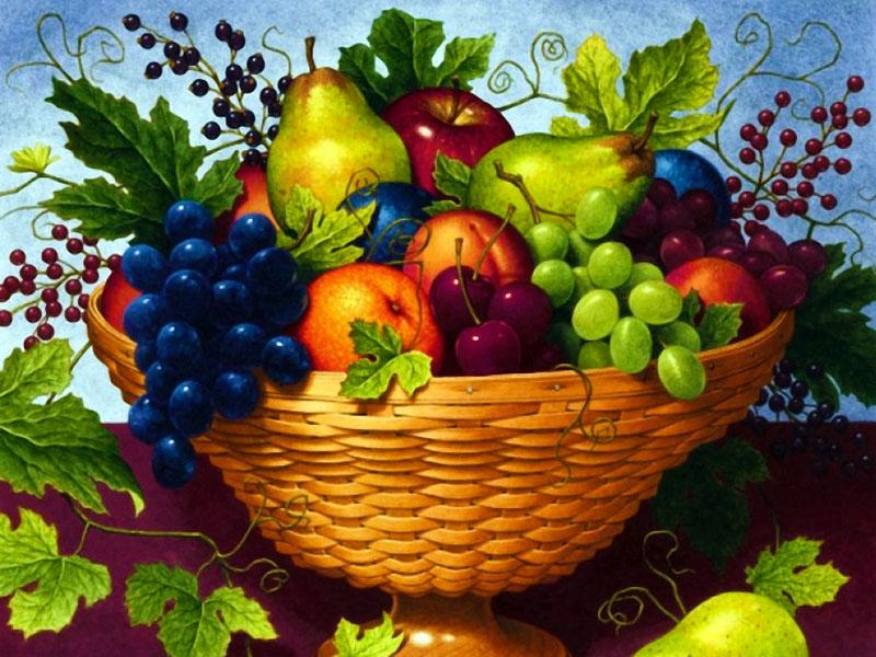 Пазл Собирать пазлы онлайн - Корзина с фруктами