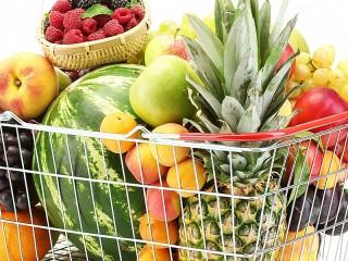 Собирать пазл Корзина с фруктами онлайн