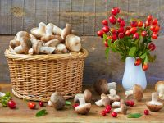 Собирать пазл Корзинка с грибами онлайн