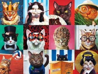 Собирать пазл Кошки онлайн