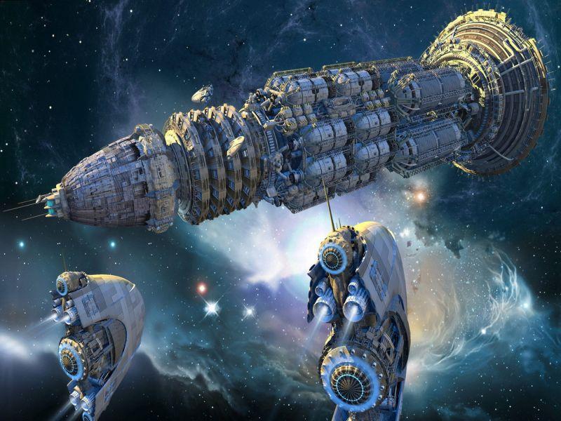 Пазл Собирать пазлы онлайн - Космическая флотилия