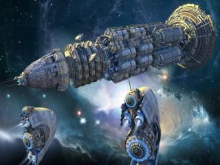 Собирать пазл Космическая флотилия онлайн