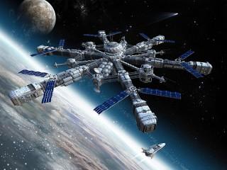 Собирать пазл Космическая станция онлайн