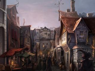 Собирать пазл Косой переулок онлайн