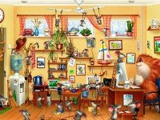 Собирать пазл Кот и мыши онлайн