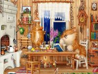 Собирать пазл Кот и мышки онлайн