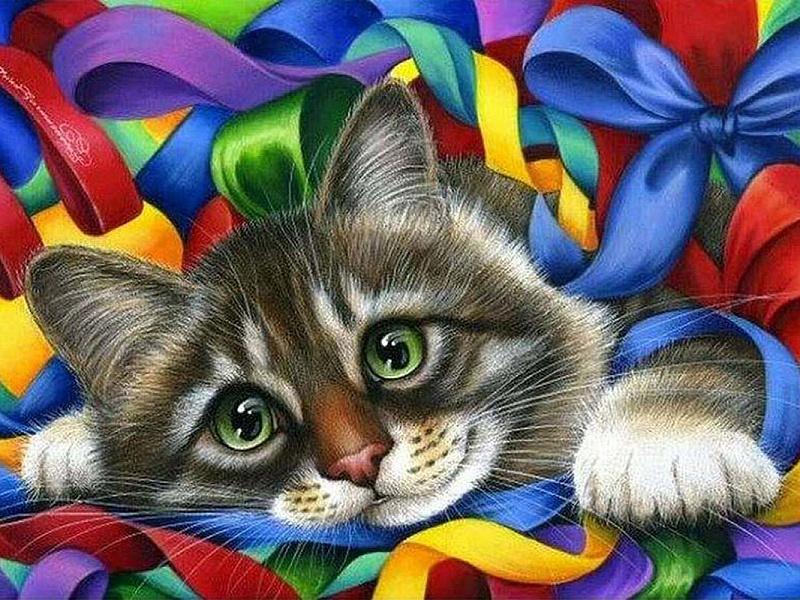 Для личного, коты открытках