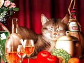 Собирать пазл Котячий натюрморт онлайн