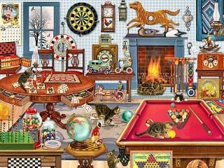 Собирать пазл Котята в игровой комнате онлайн