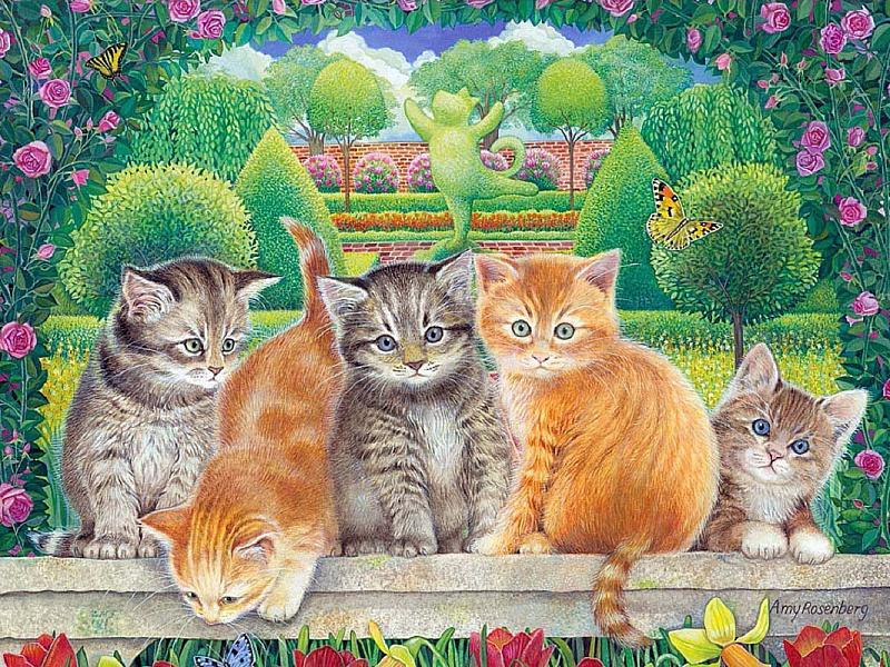 картинки пять котят и одна кошка старообрядческие дома очень