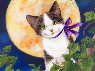 Собирать пазл Котёнок с бантиком онлайн