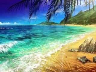Собирать пазл Краб на пляже онлайн