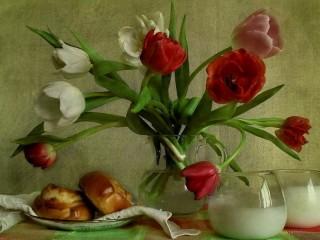 Собирать пазл Красивые тюльпаны онлайн