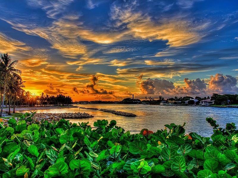 Пазл Собирать пазлы онлайн - Красивый закат