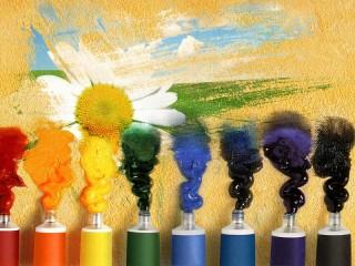 Собирать пазл Краски онлайн