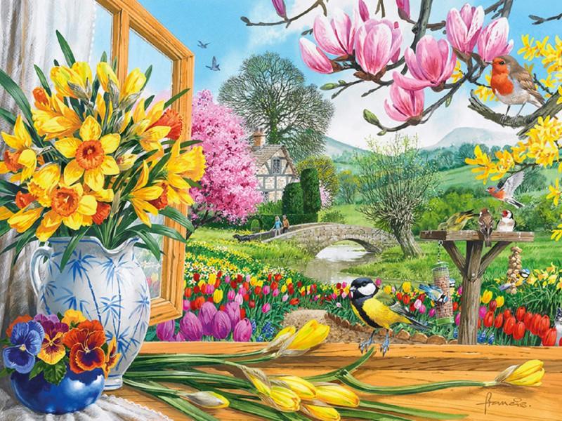 Пазл Собирать пазлы онлайн - Краски весны