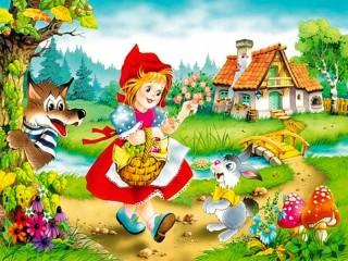 Собирать пазл Красная Шапочка  онлайн