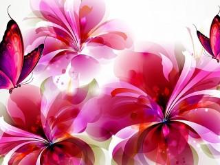 Собирать пазл Красные цветы онлайн