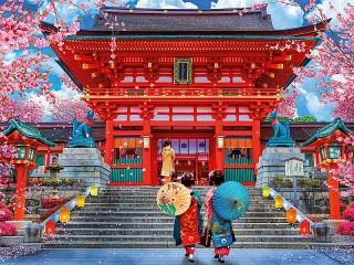 Собирать пазл Красный храм онлайн